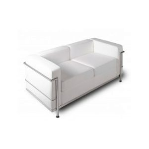 "Loveseat - ""Le Corb"" White"