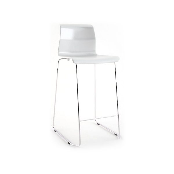 "Bar Stool - ""Glen"" White"