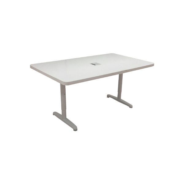Conference Table - 6 Person - White Rectangular