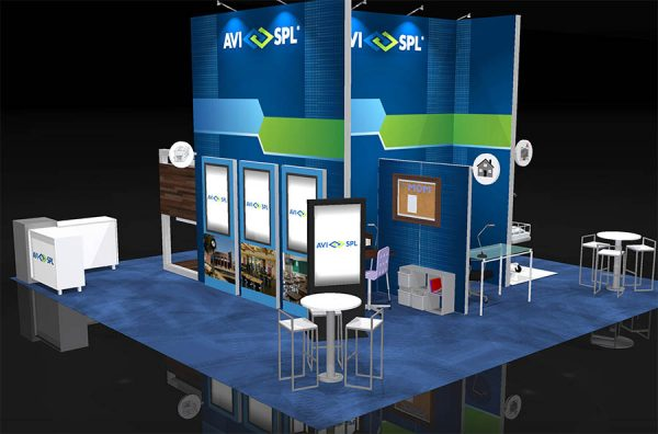 AVIS003 - 30x30 Trade Show Display Rental