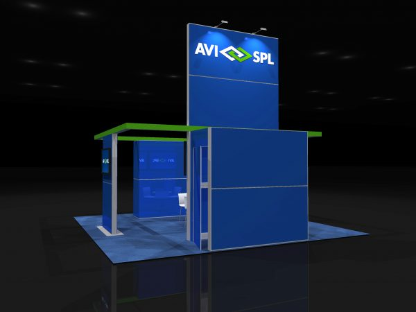 AVIS013 - 20x20 Trade Show Booth Rental