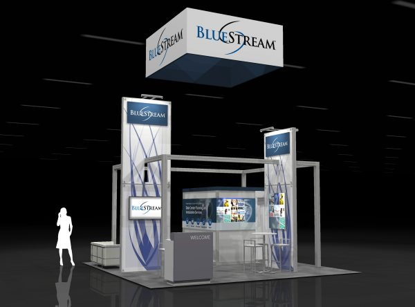 BLUS00A - 20x20 TRADE SHOW EXHIBIT RENTAL
