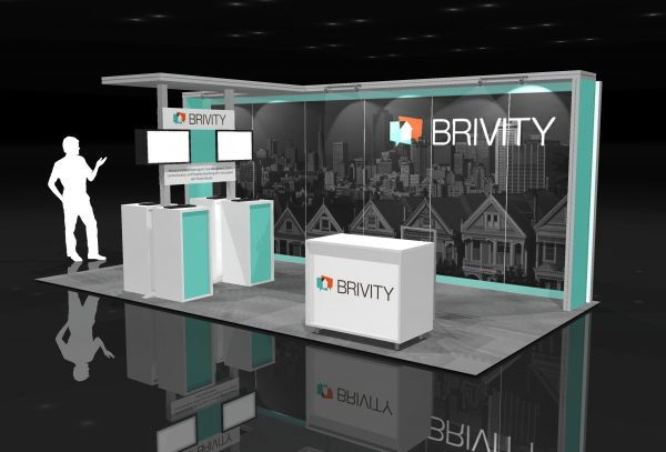 BRIV001 - 10x20 Trade Show Display Rental