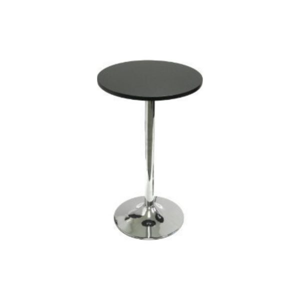 Hightop Table - Black and Chrome