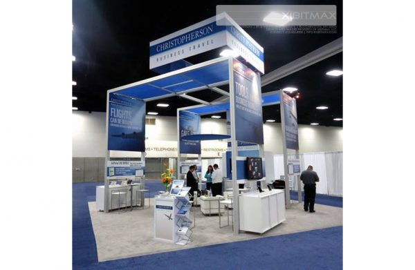 Christopherson Business Travel – 30×30 Trade Show Booth Rental