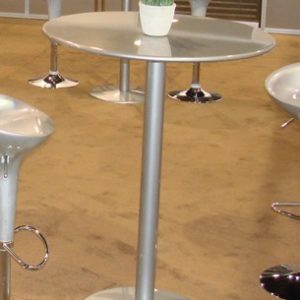 "High Top Table - ""Grey Metal"" - Painted Finish (Powder Coated)"