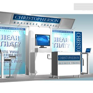 CHRS 001 10x20 Trade Show Exhibit Rental