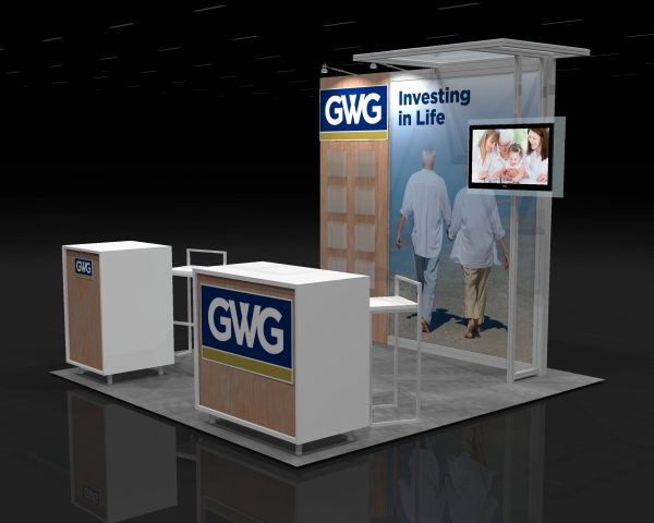 LAWN001 - 10x10 Trade Show Booth Rental