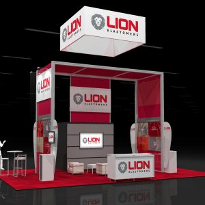 LION003 20x30 Trade Show Display Rental