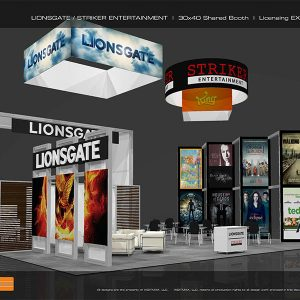 LION005 - 30x40 Trade Show Exhibit Rental