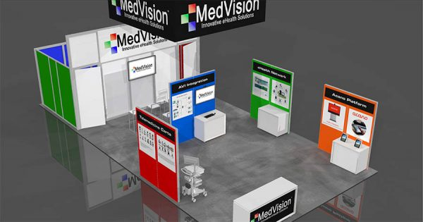 MEDV001 - 20x40 Trade Show Exhibit Rental