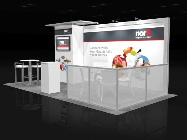 NOR1001 - 10x20 Trade Show Exhibit Rental