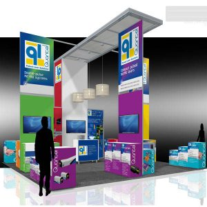 QUAN003 - 20x20 Trade Show Exhibit Rental