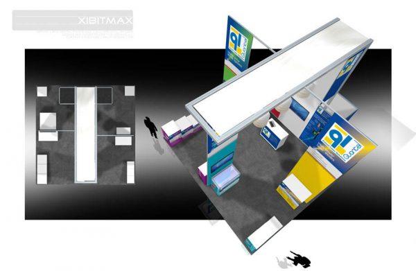 QUAN003 - 20x20 Trade Show Exhibit Rental