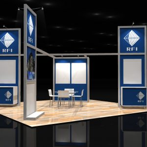 RFI 001 20x20 Rental Booth Design
