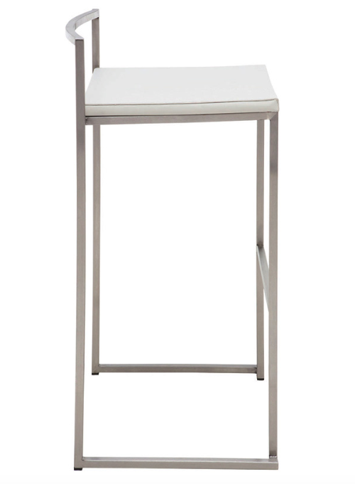 "Bar Stool - ""Genoa"" - White"