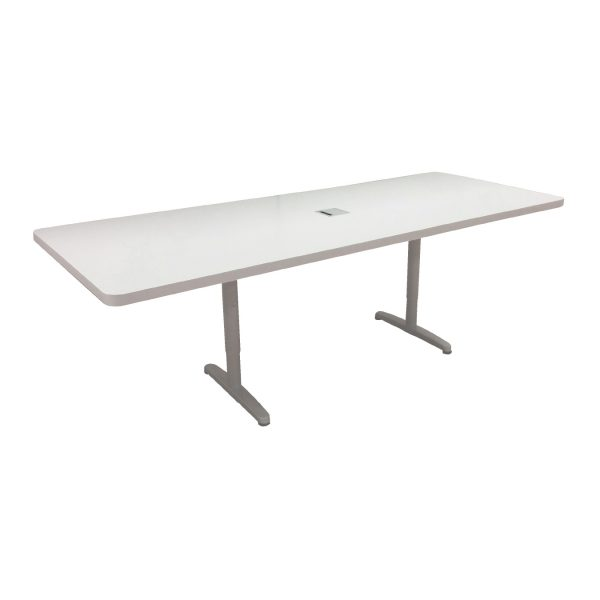 Conference Table - 8 Person - White Rectangular