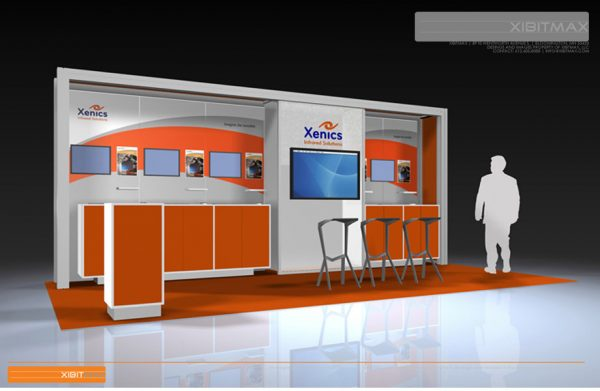 XENI004 10x20 Trade Show Display Rental