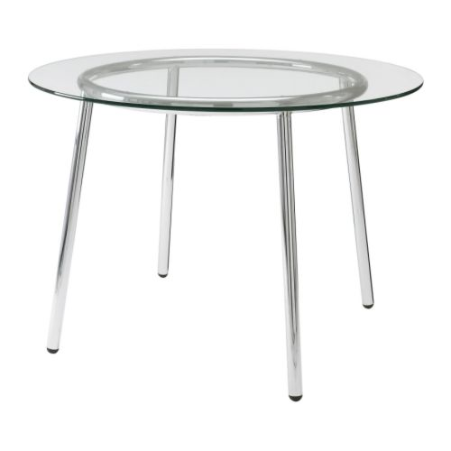"Low Top Table Standard Glass - 42"" Wide"
